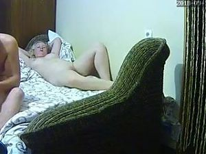 Hacked IP Cam - Ukranian Blonde With Nice Curves (Part 1)